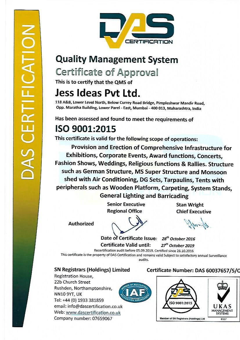 Iso Certified Jess Ideas Bureau Veritas Iso 9001 Certification