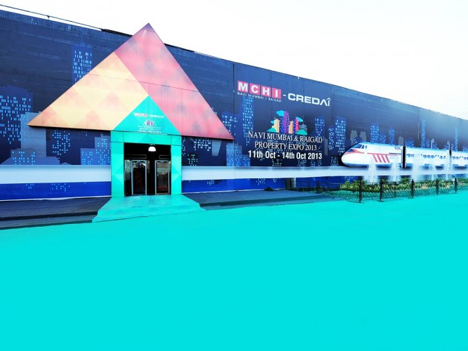 Facade Design for MCHI CREDAI Navi Mumbai Raigad Expo