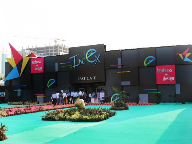 Index exhibition facade design