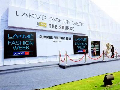 Lakme Fashion Week facade area