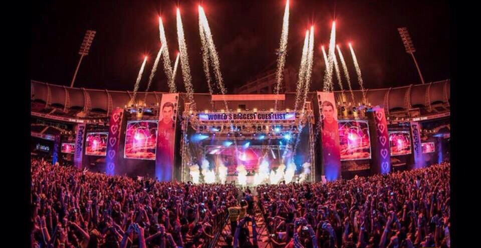 Stadium And Stage Decoration At Live Concert