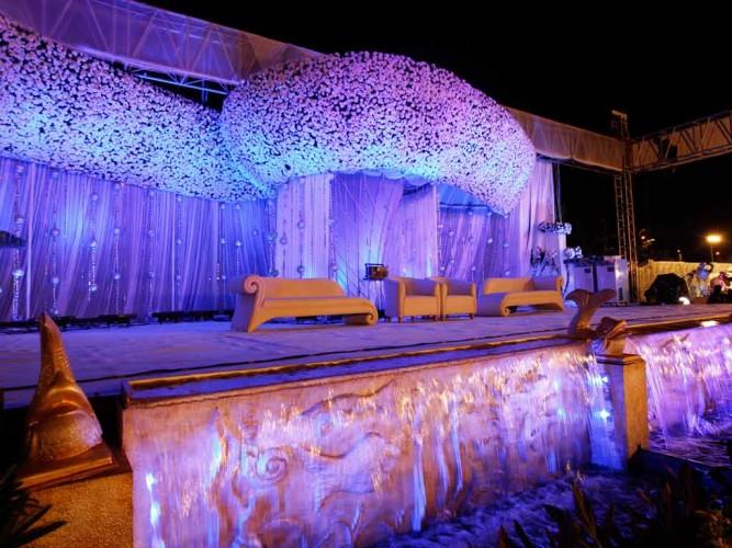 Stage lighting at Police Ground Ghatkopar