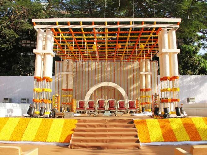 Vidhi Mandap of traditional wedding