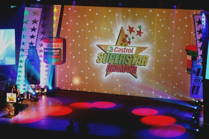stage for Castrol Superstar Show at NCPA